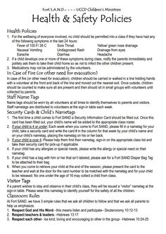 1000 images about children 39 s ministry ideas on pinterest for Church security plan template