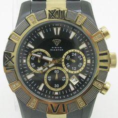 Mens Aqua Master Watch jojo techno jojino joe rodeo canary cz bling iced super $195.0