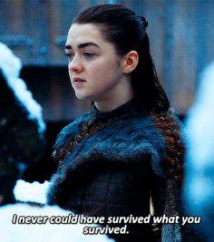 Arya Stark (7x7) talking to Sansa
