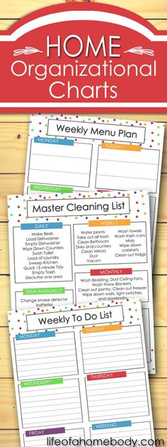 Get Your Free Weekly Planner List · Life of a Homebody