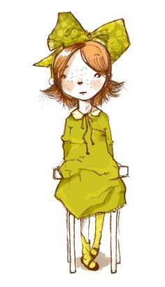 Illustration: Girl in Chair