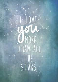 #I love you more than all the stars, #Poster DIN A4 von wandrausch auf DaWanda.com