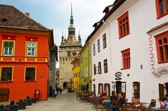 SIGHISOARA, ROMANIA has an extremely well preserved medieval fortified center, with the surrounding walls still remaining – all of which has earned Sighisoara a place on the UNESCO World Heritage list. City Break, Bulgaria, Homeland, Old World, Medieval, Beautiful Places, Places To Visit, To Go, Explore