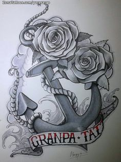 Diseño de ancla hecho por Marco, de A Coruña (España). Si quieres ponerte en contacto con él para un diseño visita su perfil: http://www.zonatattoos.com/parasargo  #tattoos #tatuajes