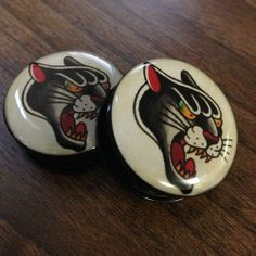 Have you checked out our Old school tattoo Panther plugs available on our site www.ukcustomplugs.co.uk/collections/plugs-acrylic/products/panther-plug