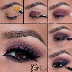 Purple Smoky Eye by @elymarino I #pampadour #smokey #eotd #motives #eyeshadow #makeup #beauty