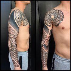 WEBSTA @ adeitameda - One more session. Forearm Sleeve Tattoos, Leg Tattoo Men, Leg Tattoos, Tribal Tattoos, Tattoos For Guys, Tree Tat, Geometric Tattoo Arm, Dot Work Tattoo, Tattoo Inspiration