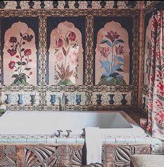 Tile Art, Mosaic Art, Mosaic Tiles, London Instagram, Rose Bath, Dream Bath, Beautiful Bathrooms, Elle Decor, Santa Fe