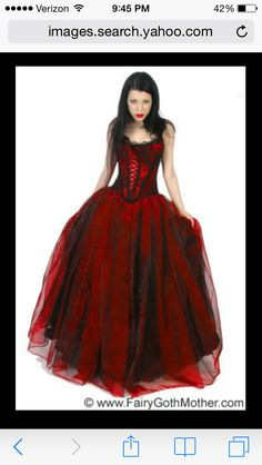 Gothic red and black dress