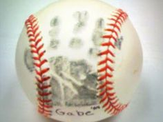 Father's Day crafts- baseball hand print. So cute and personal!