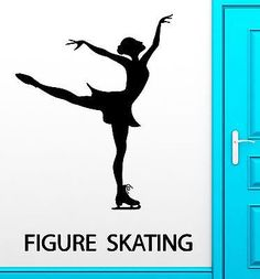 Items similar to Wall Decal Figure Skating Winter Sport Ice Dancing Vinyl Stickers Art Mural on Etsy Summer Reading Program, Art Mural, Murals, Fitness Gifts, Winter Sports, Figure Skating, Word Art, Scrapbook, Tatoos