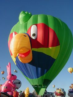 The Albuquerque International Balloon Fiesta - Special Shapes SQUAWK owned by Derek Eker