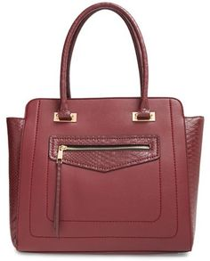 27b0f8061b39 Sole Society  Annaleigh Exotic  Structured Faux Leather Tote Backpack  Purse