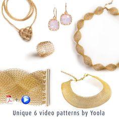 Jewelry making DIY kit - DIY Jewelry kit - Craft kit - Crochet kit - Crochet Patterns - EXTENDED kit vol 2 - Invisible Spool Knitting kit by Yoola on Etsy Diy Jewelry Kit, Jewelry Making Tutorials, Wire Jewelry, Jewelry Design, Diy Wire Crochet Jewelry, Jewelry Supplies, Video Tutorials, Pdf Patterns, Knitting Patterns