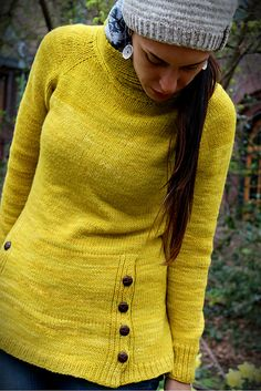 Love the yarn color, wish it looked good on me.  Ravelry: Project Gallery for Tourist Sweater pattern by Joji Locatelli