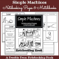 Notebooking: Free Simple Machines Notebooking Pages & Matchbooks