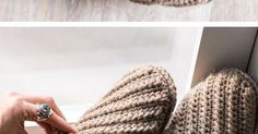 Practice your basic crochet stitches and make yourself a cozy new pair of slippers. This Crochet project kit comes with an easy to follow pattern a… | Pinteres…
