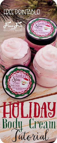 ♥ This easy to make Body cream is a wonderful handmade gift idea. You can learn how to make this homemade body cream recipe. Homemade Beauty, Homemade Gifts, Diy Beauty, Beauty Care, Beauty Makeup, Homemade Christmas, Christmas Diy, Diy Holiday Gifts, Holiday Ideas
