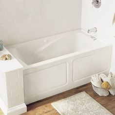 American Standard Evolution Soaking Bathtub 2425V LHO.002.222 Linen