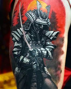 Japanese, Afro and Geisha Samurai Tattoo Designs, Meanings and Ideas. Awesome traditional Samurai tattoos for your sleeve, chest or other body parts. Japanese Warrior Tattoo, Japanese Tattoo Art, Japanese Tattoo Designs, Japanese Sleeve Tattoos, Samurai Helm, Ronin Samurai, Samurai Art, Samurai Tattoo Sleeve, Samurai Warrior Tattoo