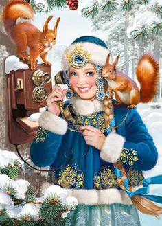 Snow Maiden by Tatiana Doronina