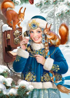 Snow Maiden. Tatiana Doronina Art, Russia