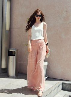 Pretty - Summer Look | Pastel Maxi - White Top | dresslily.com