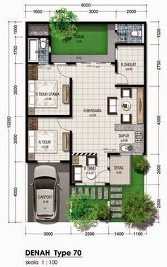 House architecture layout dream homes 50 Trendy ideas House Plans One Story, Dream House Plans, Small House Plans, House Floor Plans, Minimalist House Design, Small House Design, Minimalist Home, Modern House Design, Plan Studio