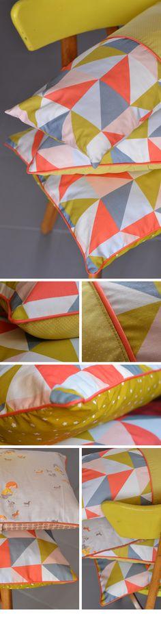 Pillows, coussins motifs géométriques