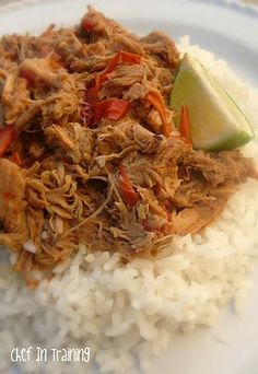 Thai Pork with Peanut Sauce in the Crock Pot!  Easy and so good!
