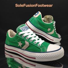 5801326b5b2c Converse Womens All Star Player Trainers Green Sz 5 Vtg Retro SNEAKERS US 7  37.5 for sale online