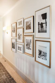 Hallway Pictures, Family Pictures On Wall, Family Photo Walls, Picture Walls, Wall Photos, Display Family Photos, Displaying Family Pictures, Photo Wall Decor, Photo Wall Design