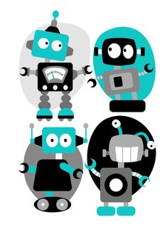 Robots (via pinkpigillustration.wordpress.com)