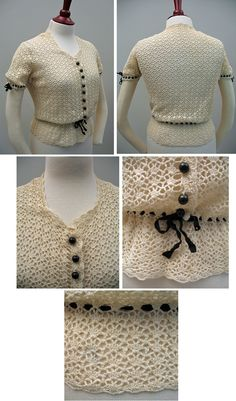 1930s crocheted blouse, $95, how I wish I could afford this!
