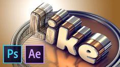 Делаем вкусный 3D Текст (Photoshop, After Effects+Element 3D)