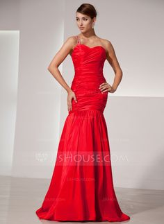 Prom Dresses - $152.99 - Trumpet/Mermaid Sweetheart Floor-Length Taffeta Prom Dress With Ruffle Beading (018014477) http://jjshouse.com/Trumpet-Mermaid-Sweetheart-Floor-Length-Taffeta-Prom-Dress-With-Ruffle-Beading-018014477-g14477