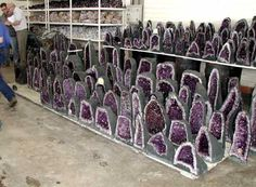 Amethyst cathedrals at Tucson mineral and gem show Minerals And Gemstones, Crystals Minerals, Rocks And Minerals, Stones And Crystals, Gem And Jewelry Show, Crystal Magic, Amethyst Crystal, Tucson Gem Show, Amethyst Cathedral