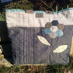 Large navy blue and grey market bag by HobbsHillQuilts on Etsy https://www.etsy.com/listing/225960185/large-navy-blue-and-grey-market-bag