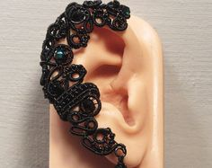 CRYSTAL EAR WRAP elegant ear cuff copper and brass by bodaszilvia