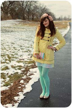 Funky pastel tights