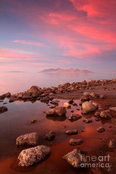 ✯ Great Salt Lake and Antelope Island Sunset - Utah