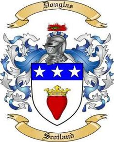 Douglas Family Coat of Arms from Scotland. We always had this hanging in our living room when I was growing up.