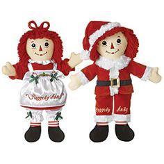 Raggedy Ann & Andy Christmas Dolls - Betty's Attic