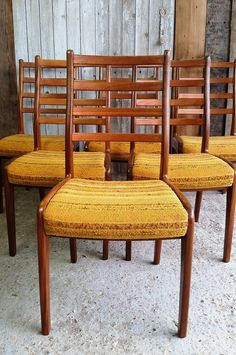Vintage G Plan dining chairs.