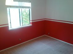 A boy's bedroom makeover project inspired by the Detroit Red Wings hockey team.