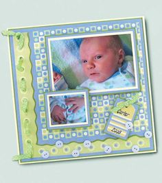 Beautiful Baby Scrapbook Page