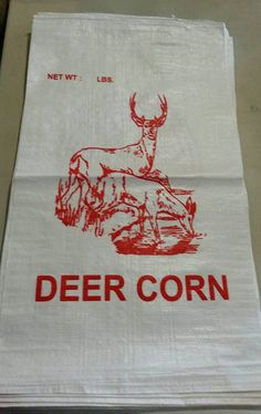 New Unused Deer Corn Bags For Eco Grocery Lot Of 10