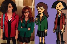 Daria & Jane costume by Katy Perry! This is one of the many reasons why I love Katy Perry ♥ ♥ ♥ ♥ ♥ ♥ ♥ ♥ ♥ ♥ ♥ ♥ ♥