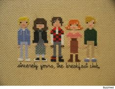 Breakfast Club in cross stitch