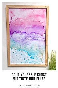 How To: Fired Ink Art. So kannst du mit Alkoholfarben / Alkoholtinte und Feuer diese DIY Kunstwerke für deine Wand erschaffen. Das basteln macht super viel spaß und es ist ein Unter 5 Minuten Do it yourself Muttertagsgeschenk